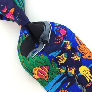BLUE SEA PLANTS Nevality Necktie Tie